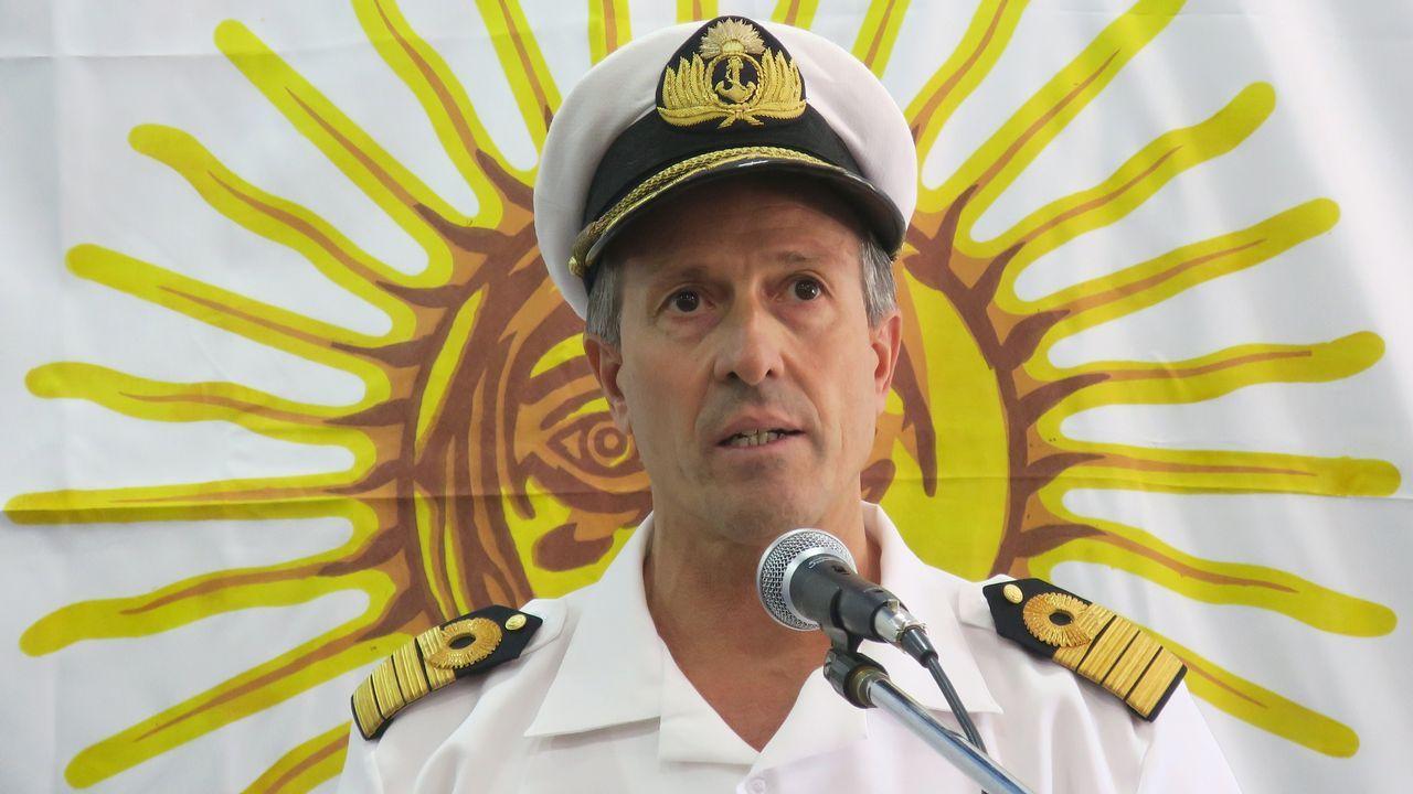 El capitán de navío Enrique Balbi, portavoz de la Armada argentina