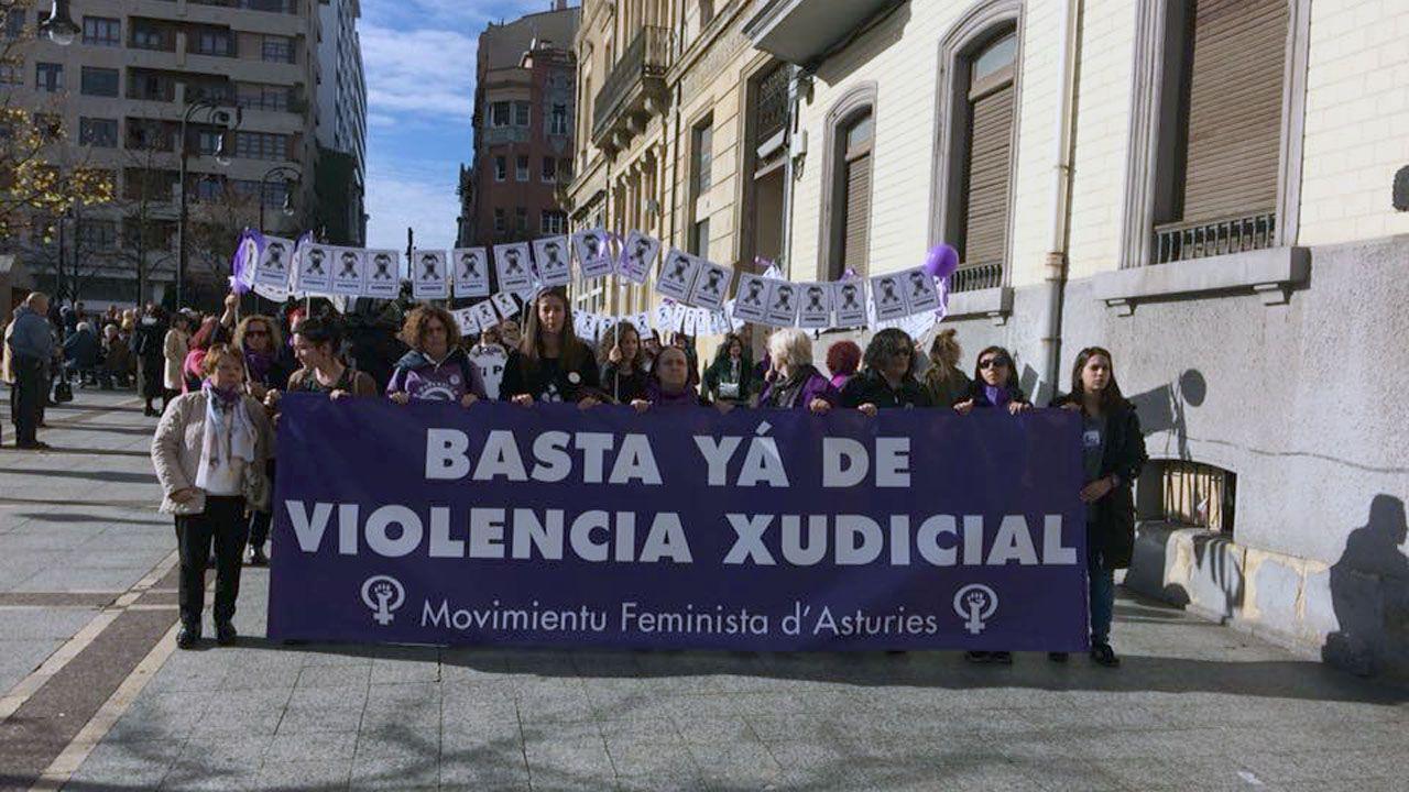 Marcha contra la violencia de género en Gijón