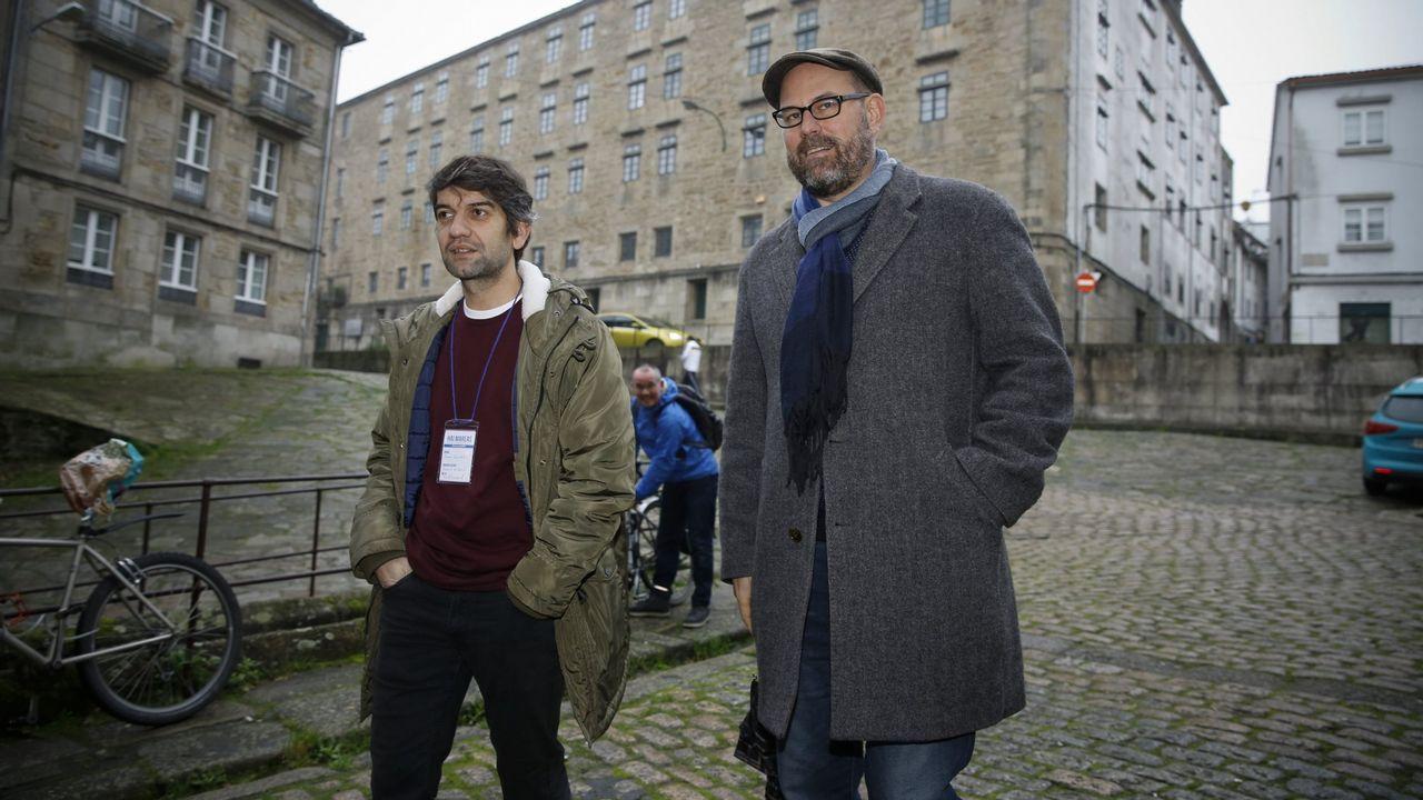 Los alcaldes de Ferrol, Jorge Suárez, y Santiago, Martiño Noriega