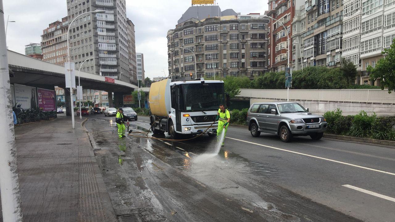 Inundaciones en A Coruña.VISTAS DE LA ANTIGUA FÁBRICA DE TABACOS Y ACTUAL AUDIENCIA PROVINCIAL DE A CORUÑA. JUZGADOS