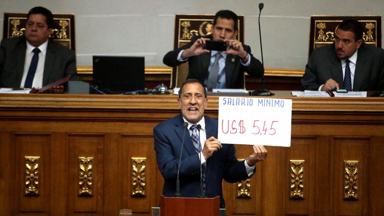 | EFE.El diputado José Guerra, en la sesión de Parlamento