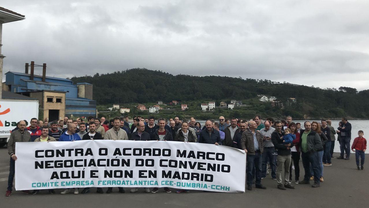 .Manifestación contra el acuerdo marco, hace unas semanas