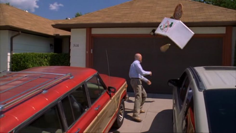 La escena de la pizza de «Breaking Bad»
