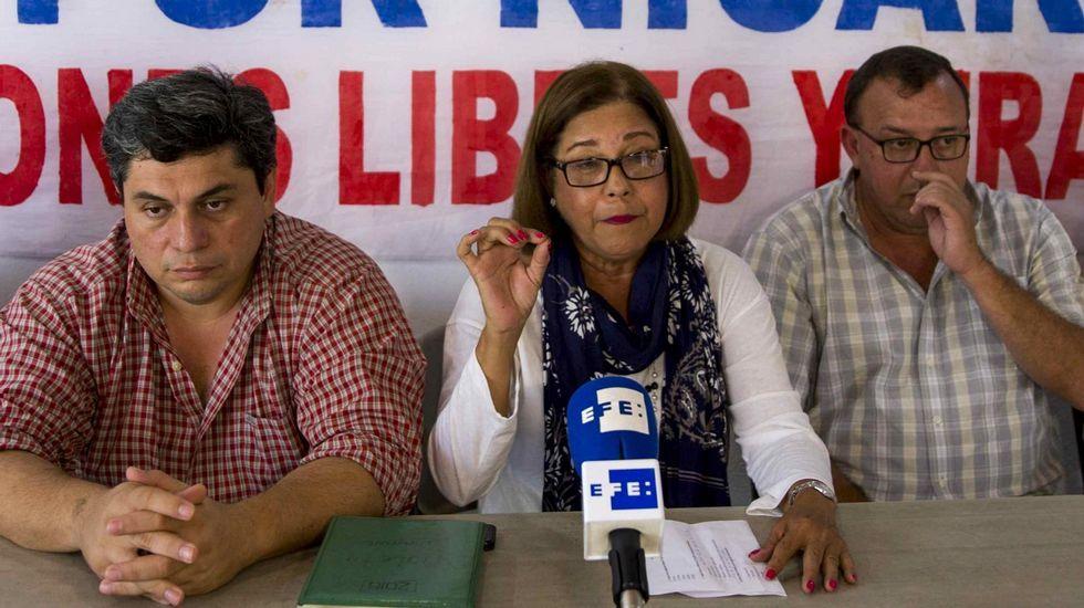 La exaspirante a la vicepresidencia de Nicaragua Violeta Granera