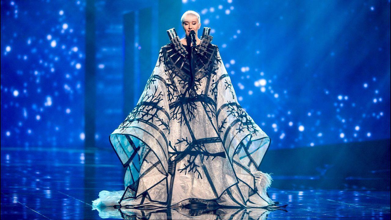 Nina Kraljic dejó atónitos a los que seguían Eurovisión desde Estocolmo en el año 2016 con su indescriptible vestido