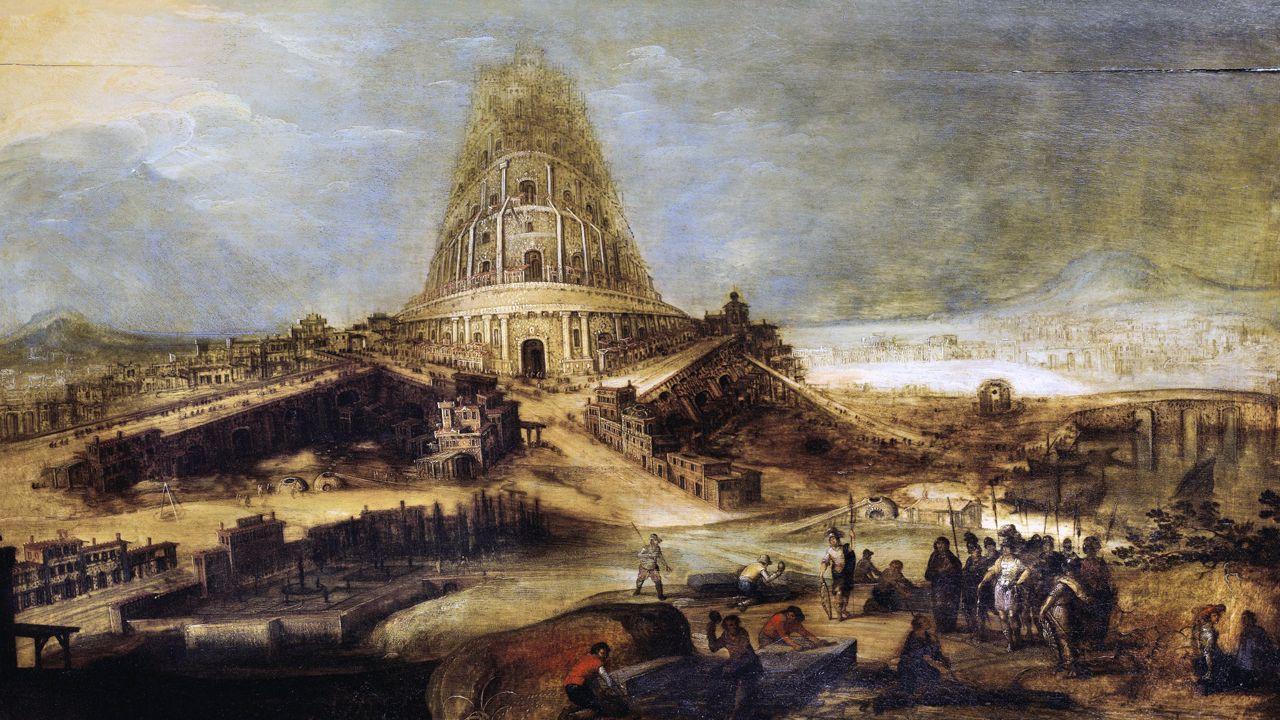 La autopista del Huerna.La torre de Babel, de Hendrick van Cleve III
