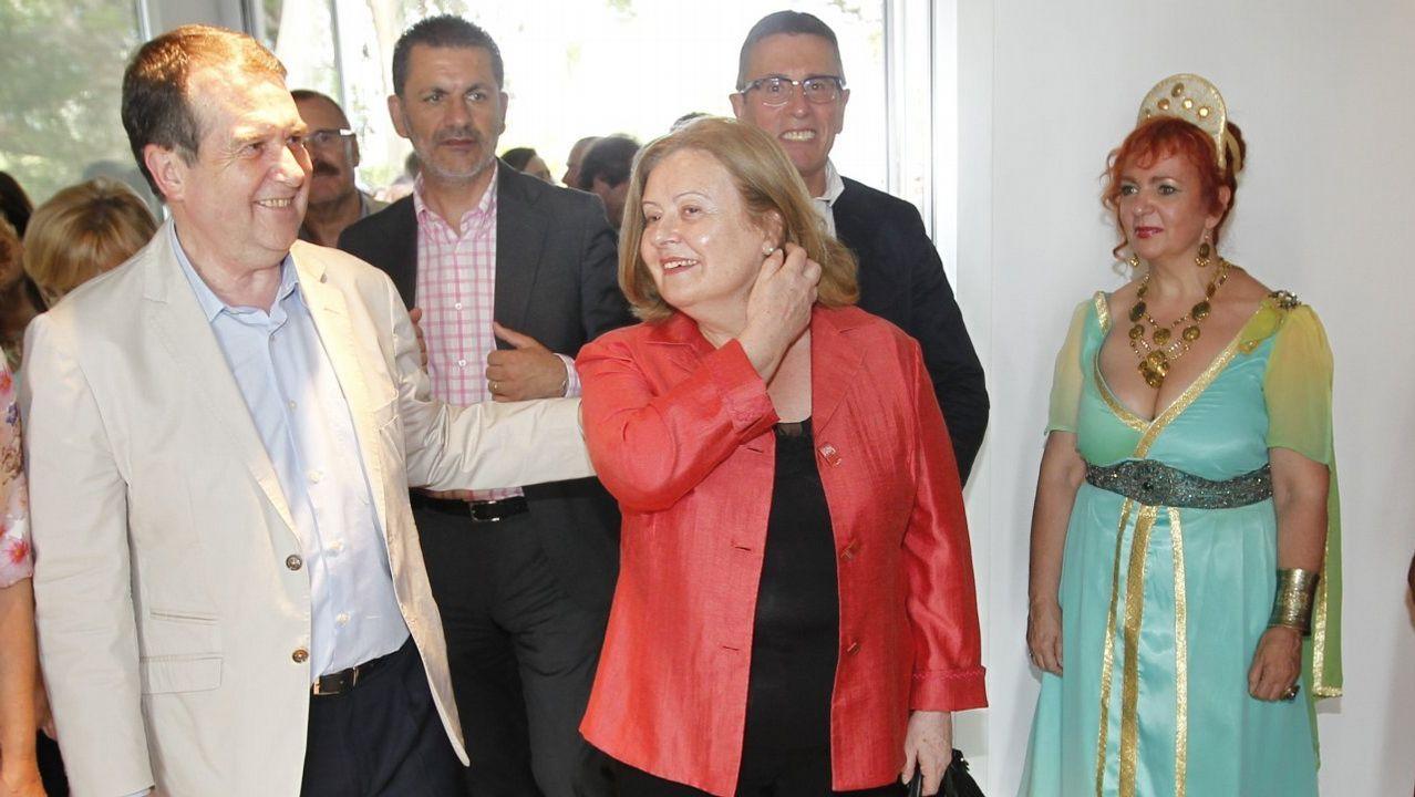 Abel Caballero con su mujer, Cristina, en una imagen de archivo