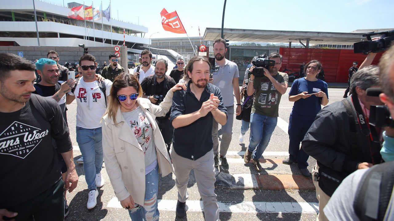 Pablo Iglesias, sobre las donaciones de Amancio Ortega: «La sanidad no puede depender de ningún millonario».Traslado entre Ourense y Zamora en autobús el pasado 9 de mayo