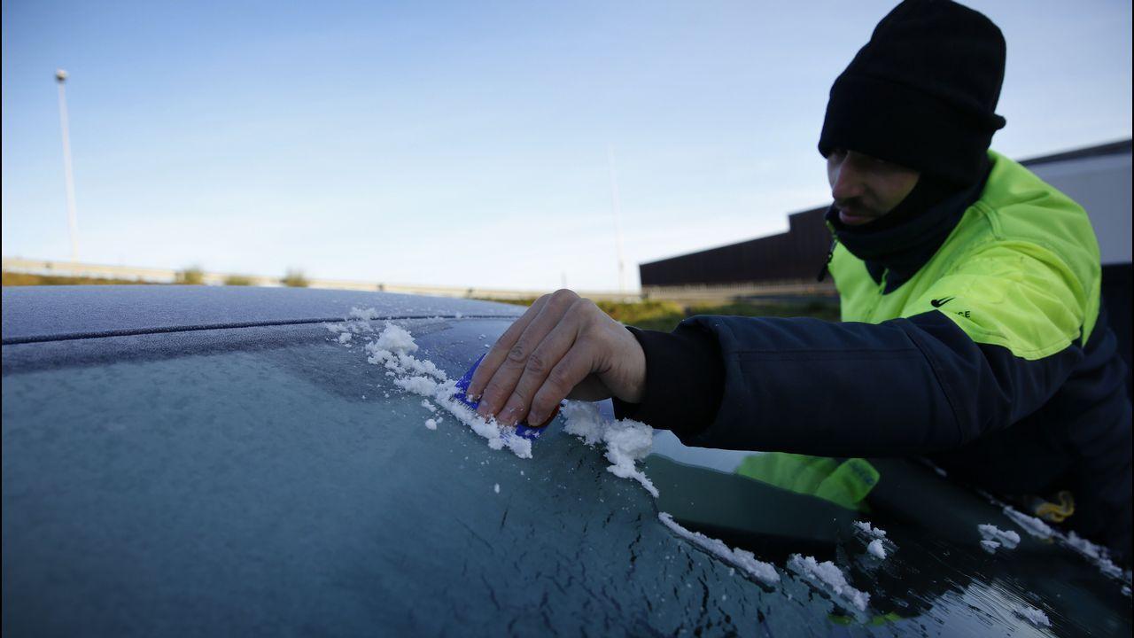 Una irrupción de aire ártico invadirá Galicia.Marine Le Pain, líder del Frente Nacional, durante la presentación de la campaña de su partido a las elecciones europeas