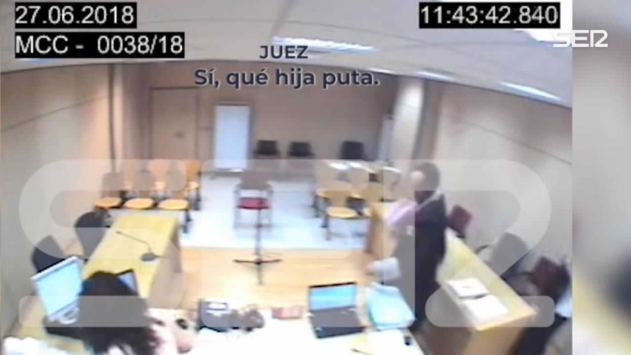 Captura del vídeo publicado por la Cadena Ser en el que se escucha a tres miembros del tribunal una vez acabada la vista
