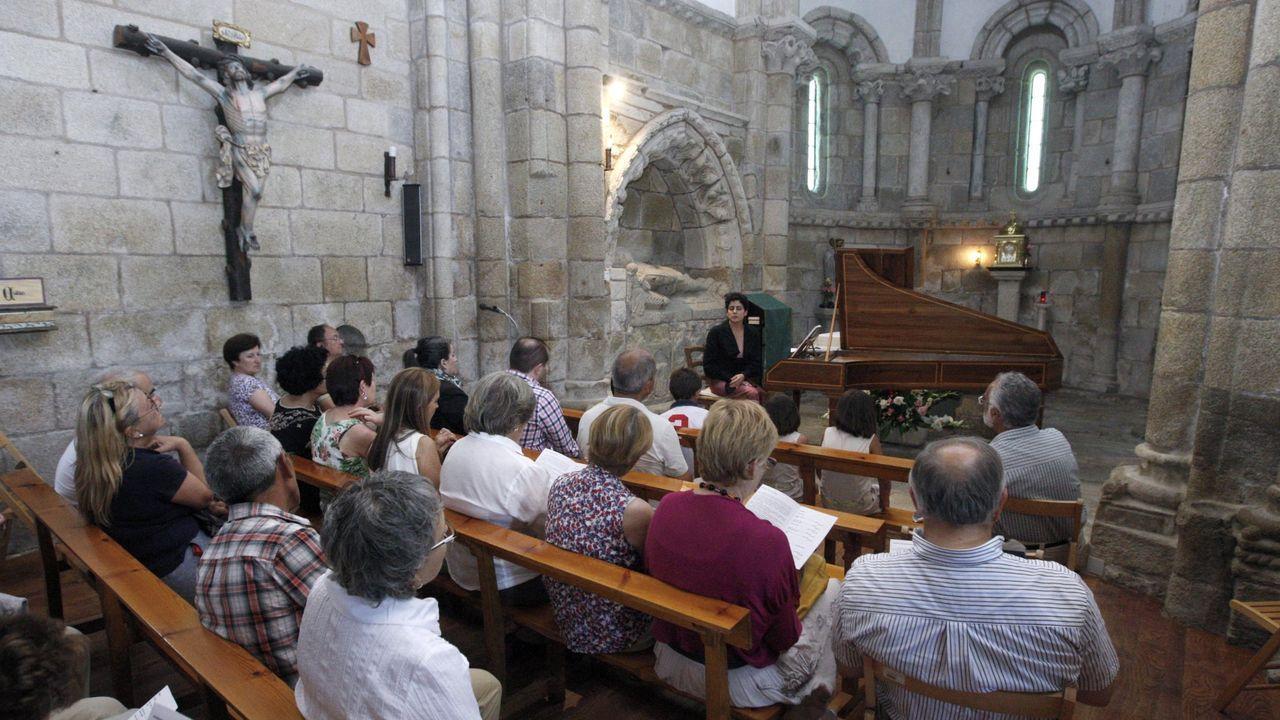 Concerto de fortepiano a cargo de Patricia Rejas nunha edición anterior do ciclo Sinfonía no Mosteiro