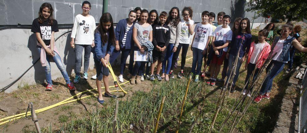 .Los voluntarios del programa Voz Natura dedican los recreos y dos tardes a la semana al cuidado de su huerto y su invernadero; y lo hacen porque es lo más les gusta.