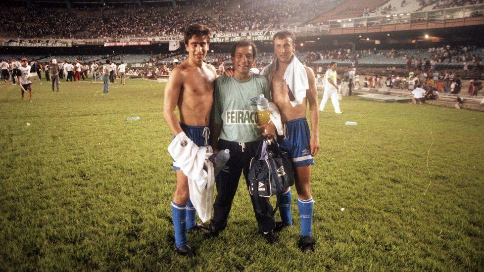 Mauro Silva y Juanito.