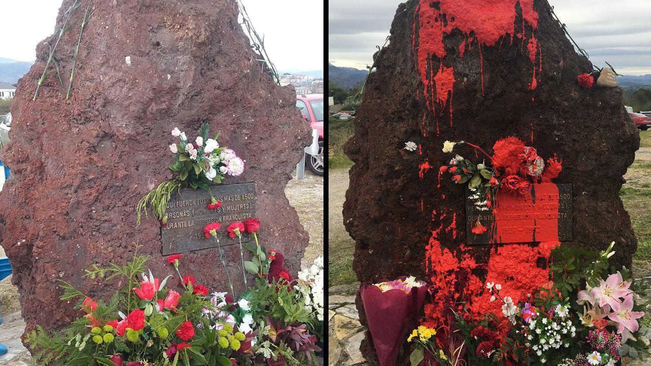 Ataque con pintura al monolito dedicado a los represaliados del franquismo