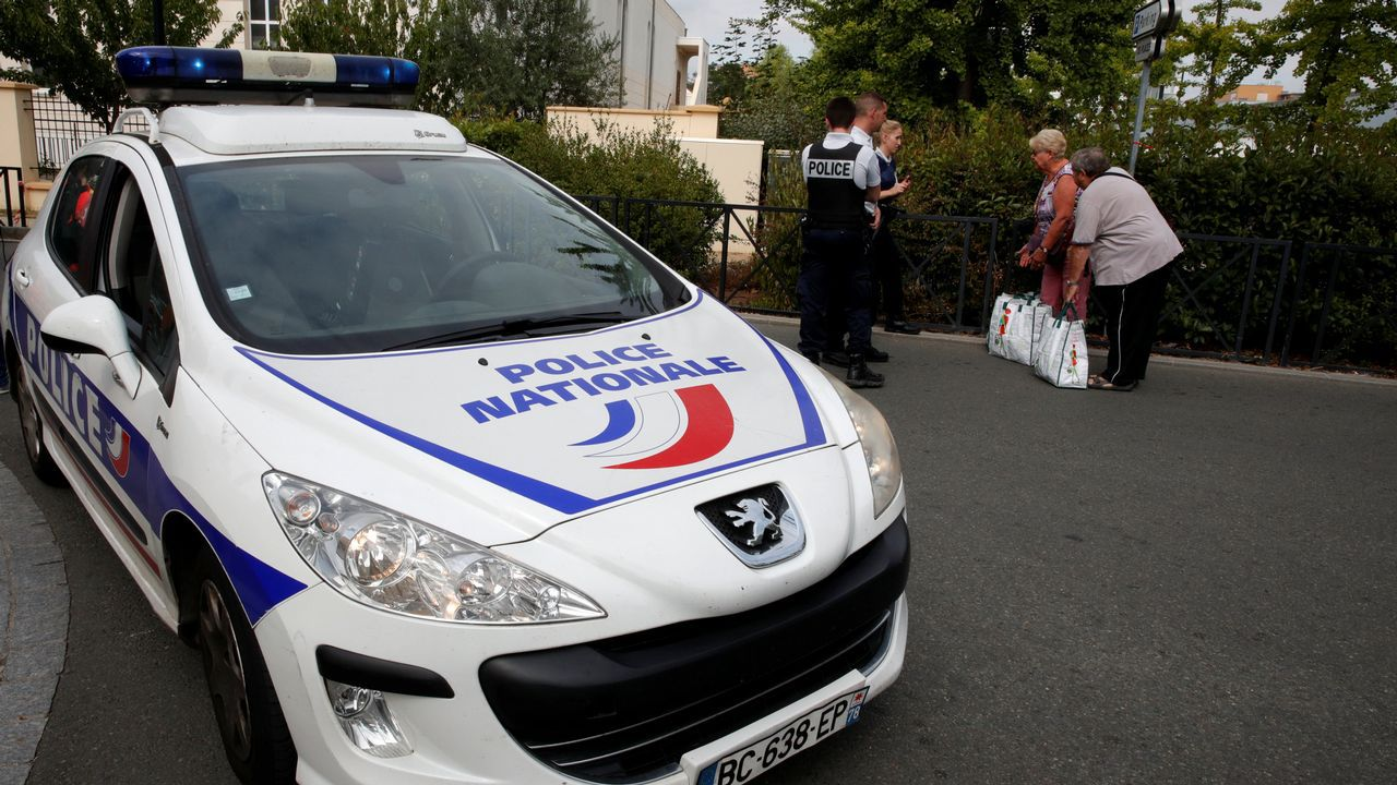 .Lugar del último ataque de un presunto terrorista yihadista en Trappes, Francia