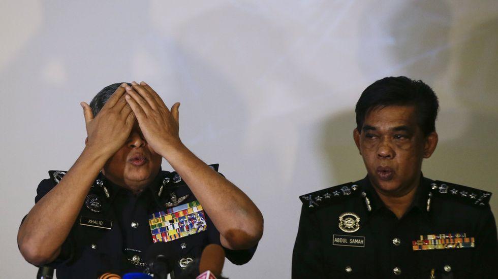 El inspector general de la Real Policía de Malasia (RMP) Khalid Abu Bakar