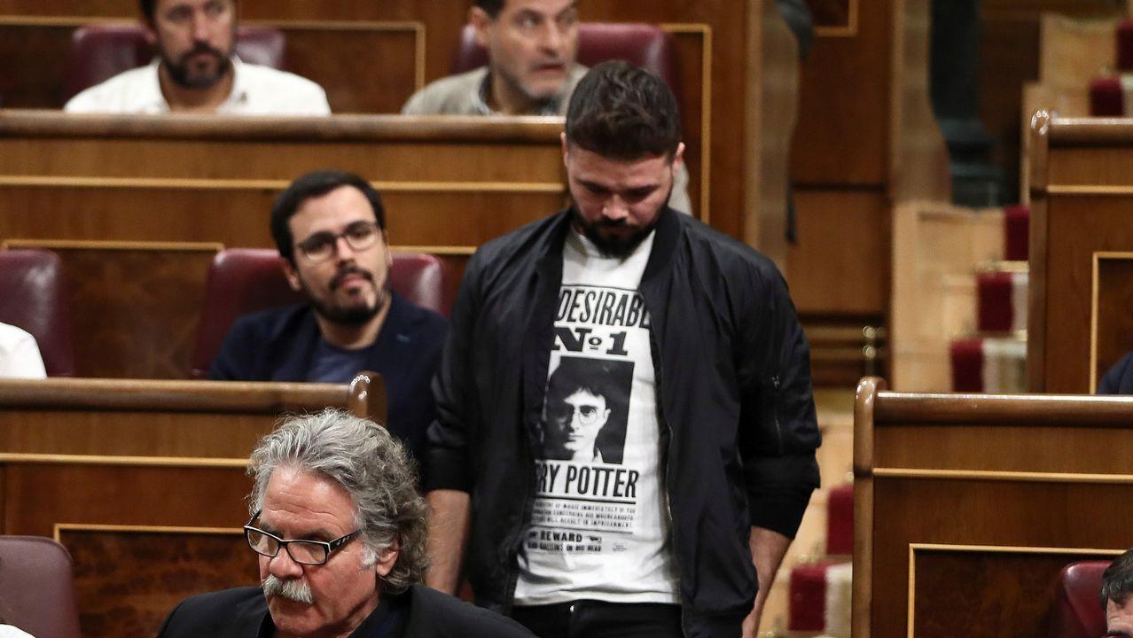 Otro pleno bronco en el Congreso: Entre el «Viva Galiza Ceive» de Rufián y el «Viva la Guardia Civil.Protestas por el encarcelamiento de la joven palestina Ahed Tamimi