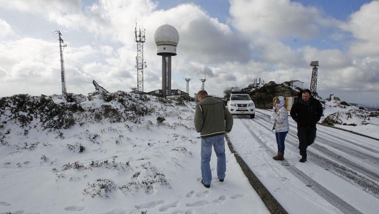 La nieve llega a Monte Caxado