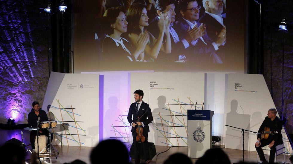 La Reina Letizia presidió hoy el acto inaugural de los cursos de verano de la Escuela Internacional de Música de la Fundación Princesa de Asturias