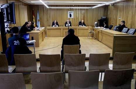El acusado ayer en el banquillo de la Audiencia durante la celebración del juicio.