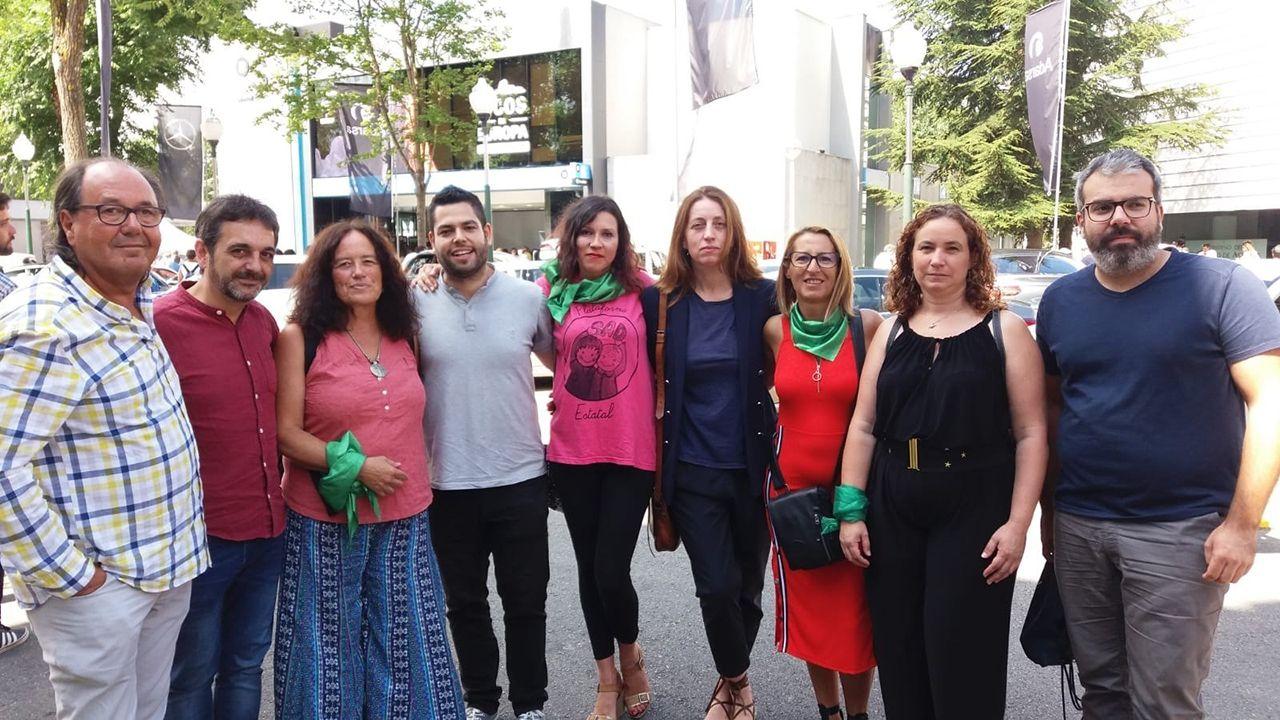 .Responsables de Somos Oviedo, Xixón Sí Puede y Podemos Asturies en la Fidma