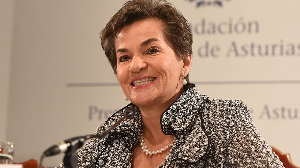 Así se monta la ITV modular hecha en Galicia.Christiana Figueres