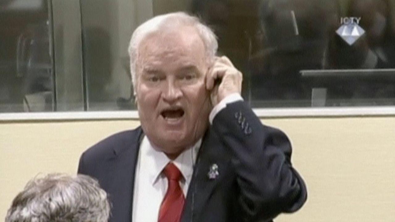 Ratko Mladic, condenado a cadena perpetua por sus crímenes durante la guerra de Bosnia.