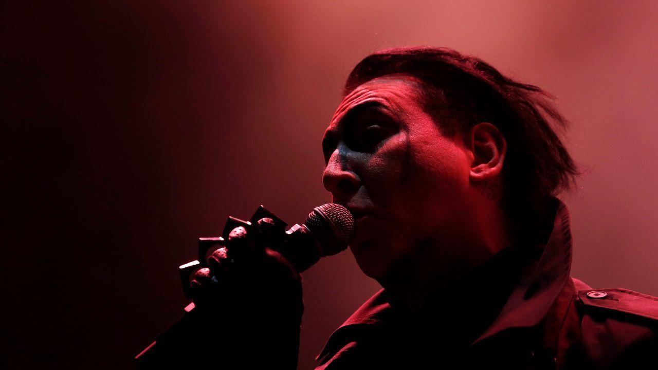 .Marylin Manson en concierto en Campo Pequeno, en Lisboa (Portugal)