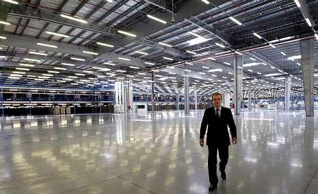 La capilla ardiente.Pablo Isla presentó los resultados del último ejercicio en el centro logístico que Inditex tiene en Meco (Madrid).