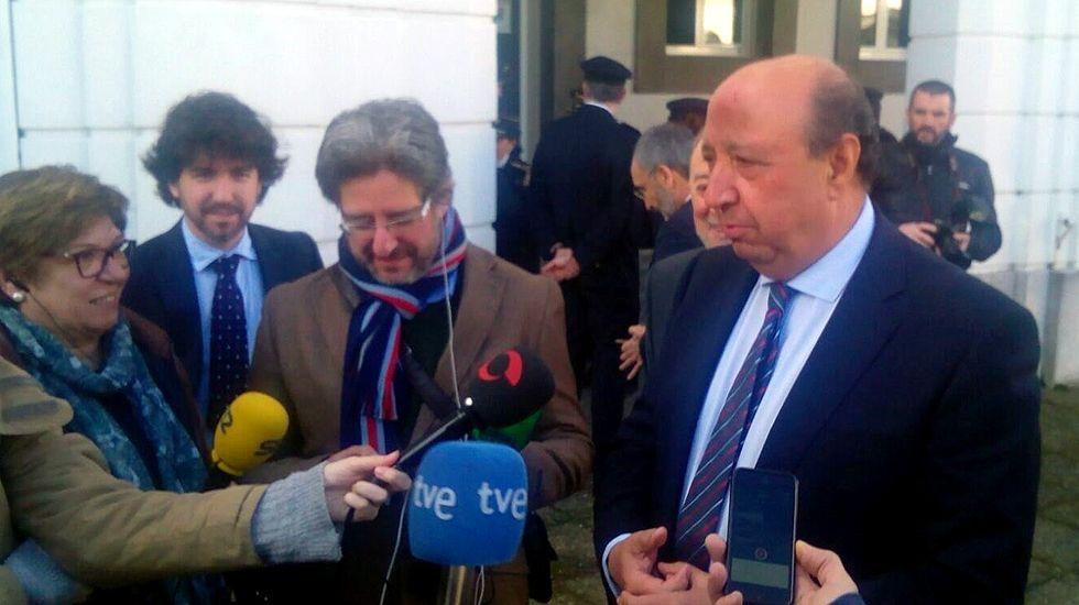 El director general de la Policía Nacional, Germán López Iglesias, durante su visita a Oviedo.El director general de la Policía Nacional, Germán López Iglesias, durante su visita a Oviedo