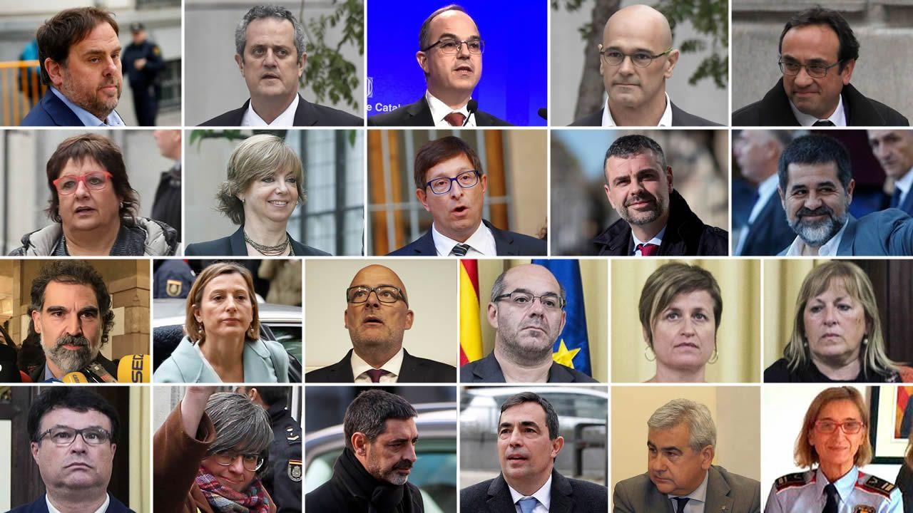 ¿Qué penas pide la Fiscalía para los responsables del procés?.Los expresidentes de Brasil y de Chile, Cardoso (a la izquierda) y Lagos, junto a Sánchez ayer en el Foro Iberoamericano