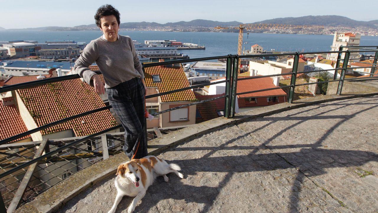 Cartel reivindicativo en una concentración del 8M, en Asturias