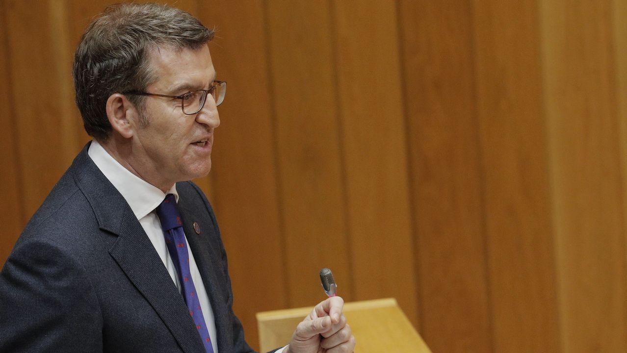 El PPdeG ataca a sus rivales.Feijoo responde a la oposición en el pleno del Parlamento