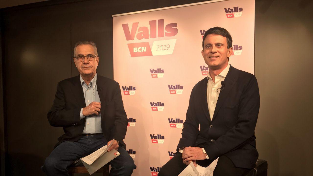 Celestino Corbacho y Manuel Valls
