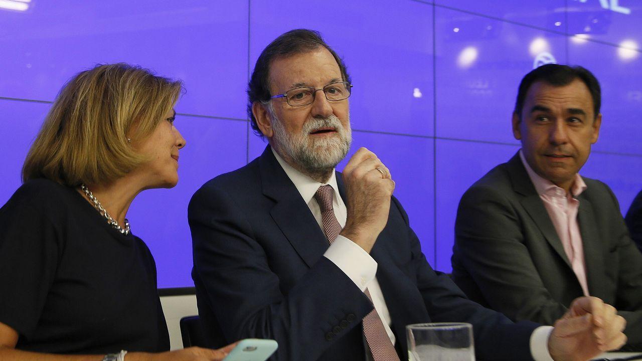 Rajoy promete «tranquilidad» y «firmeza» ante la «estafa» del referendo.Javier Vega de Seoane