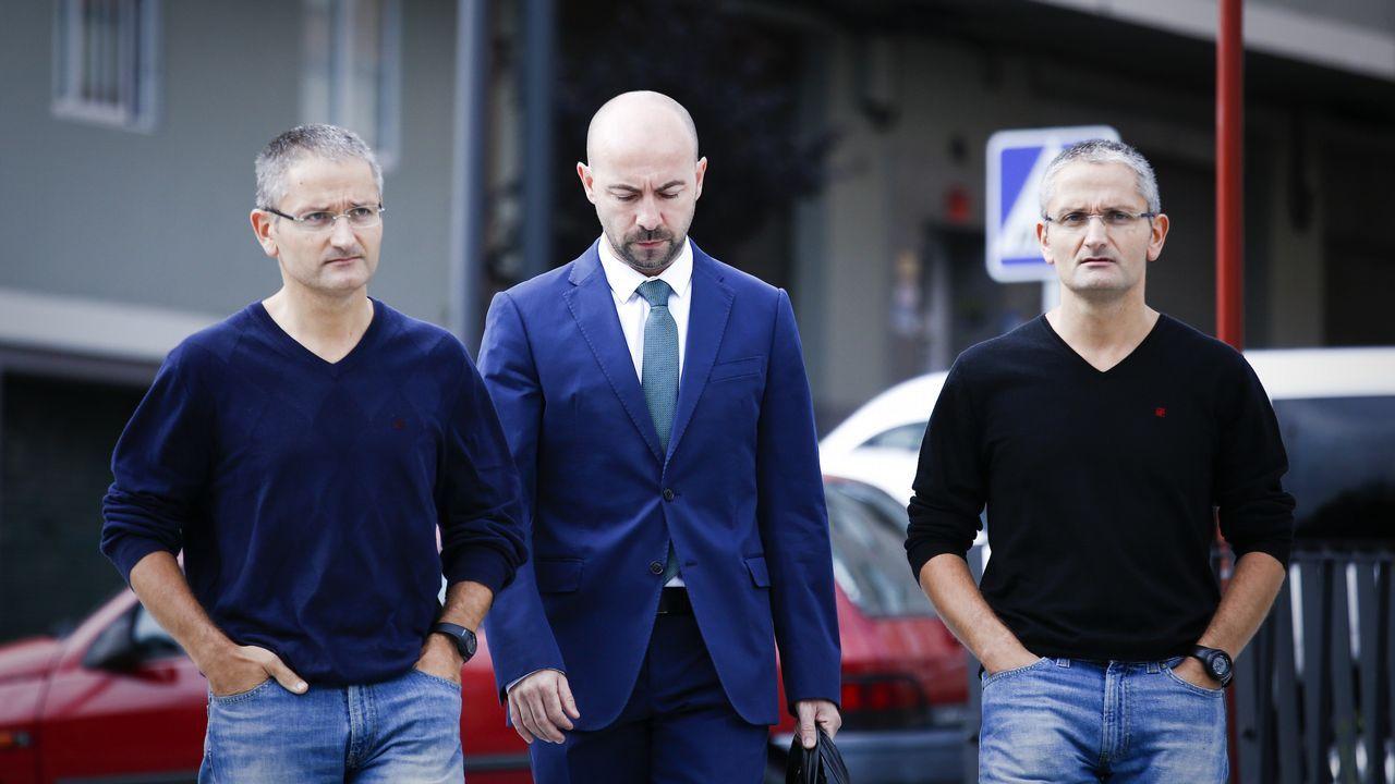 Juzgados Oviedo.El detenido, este miércoles, cuando era trasladado al juzgado