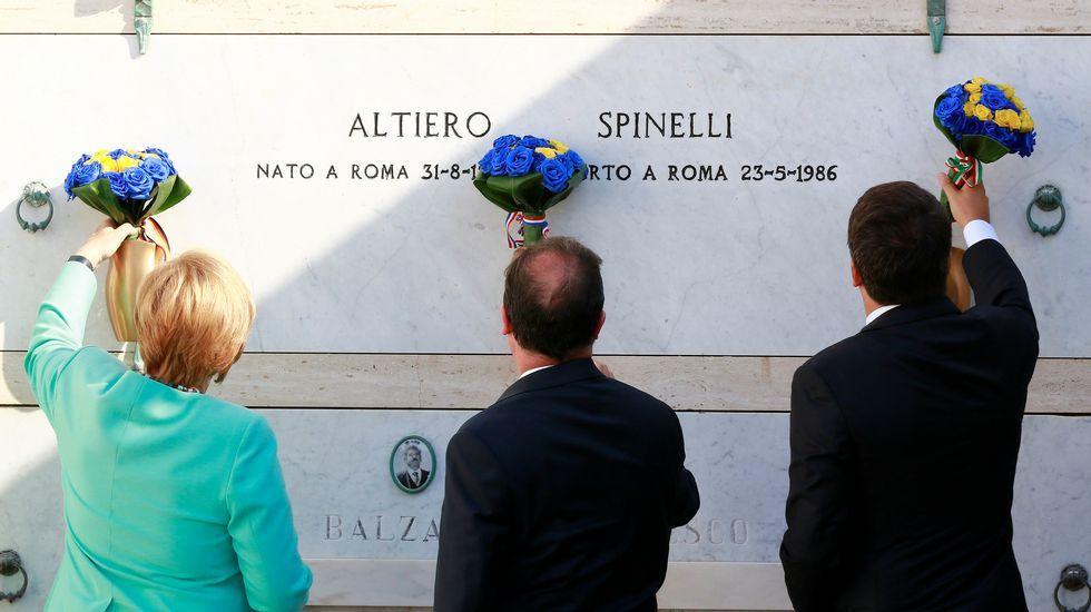 Merkel, Renzi y Hollande buscan un nuevo rumbo para Europa.