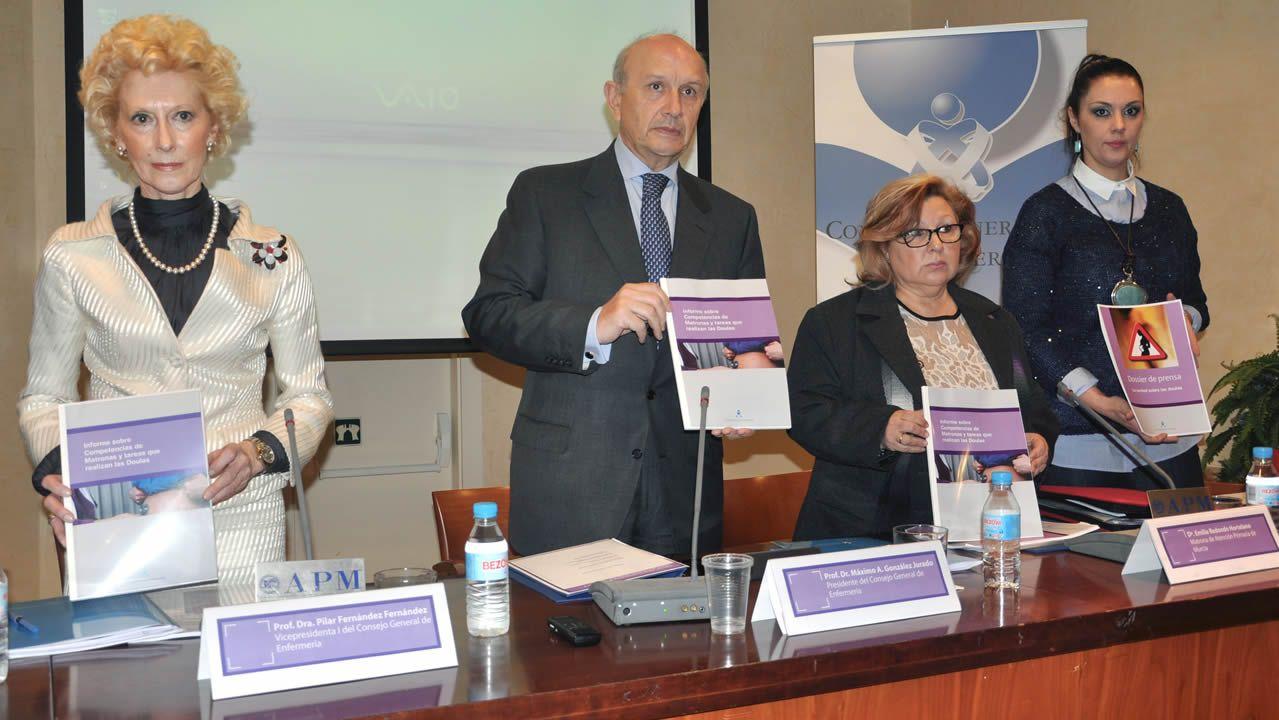 Foto del año 2015 cuando el Consejo General de Enfermería presentó su informe «La verdad sobre las doulas»
