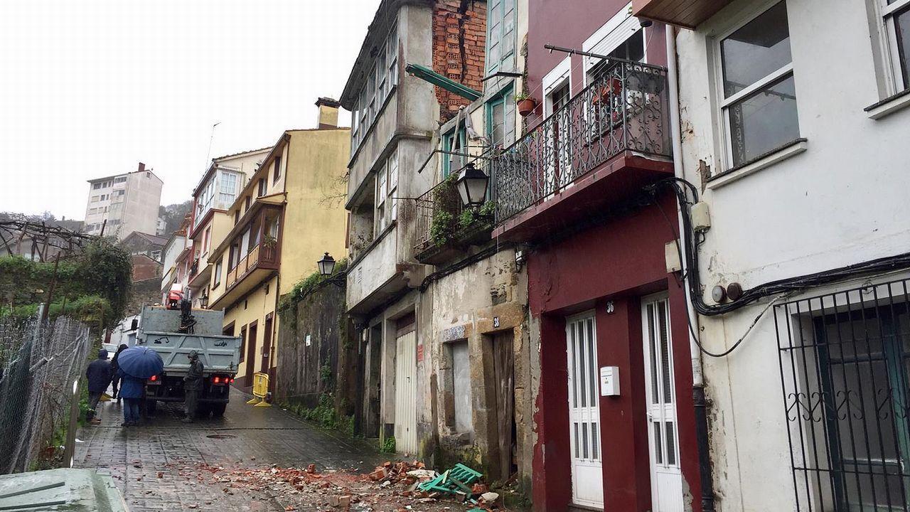 La huella de la borrasca Helena en Ferrolterra, Eume y Ortegal.La restauración del alboio de Quinín, en Redes, se financia con las ayudas europeas que gestiona el GALP Costa Ártabra Norte
