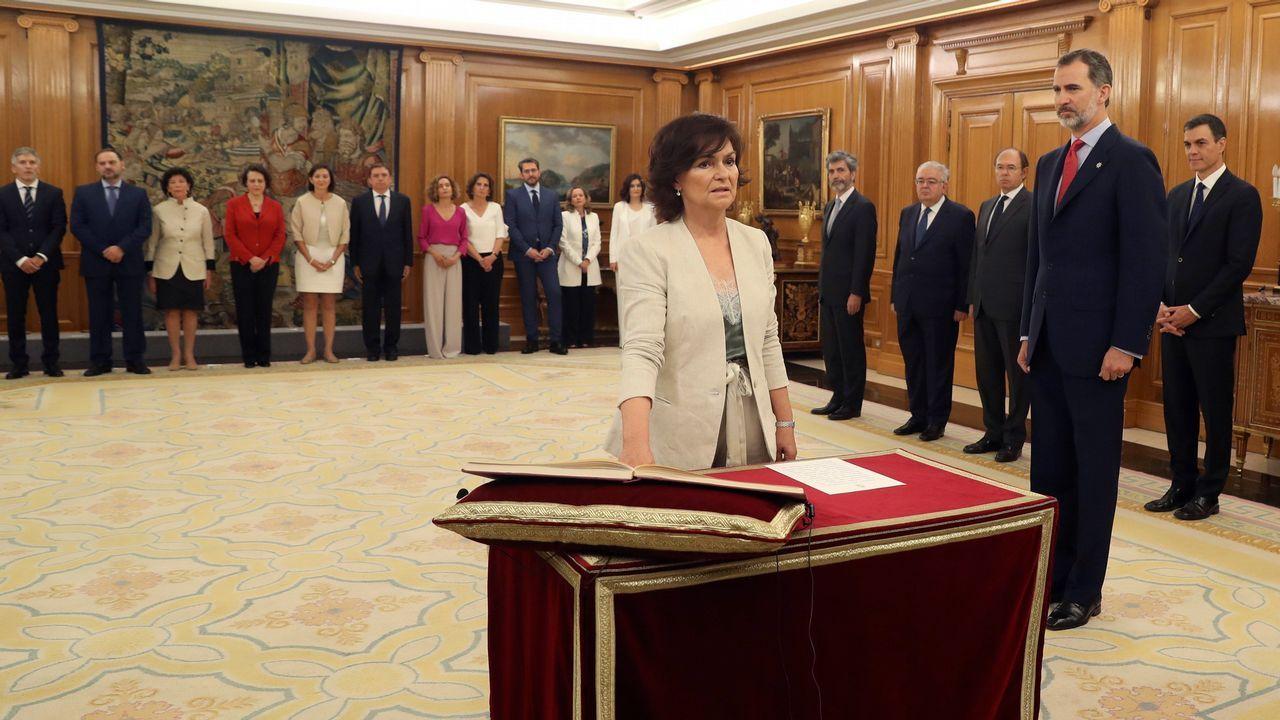 Carmen Calvo promete su cargo como nueva vicepresidenta y ministra de Igualdad