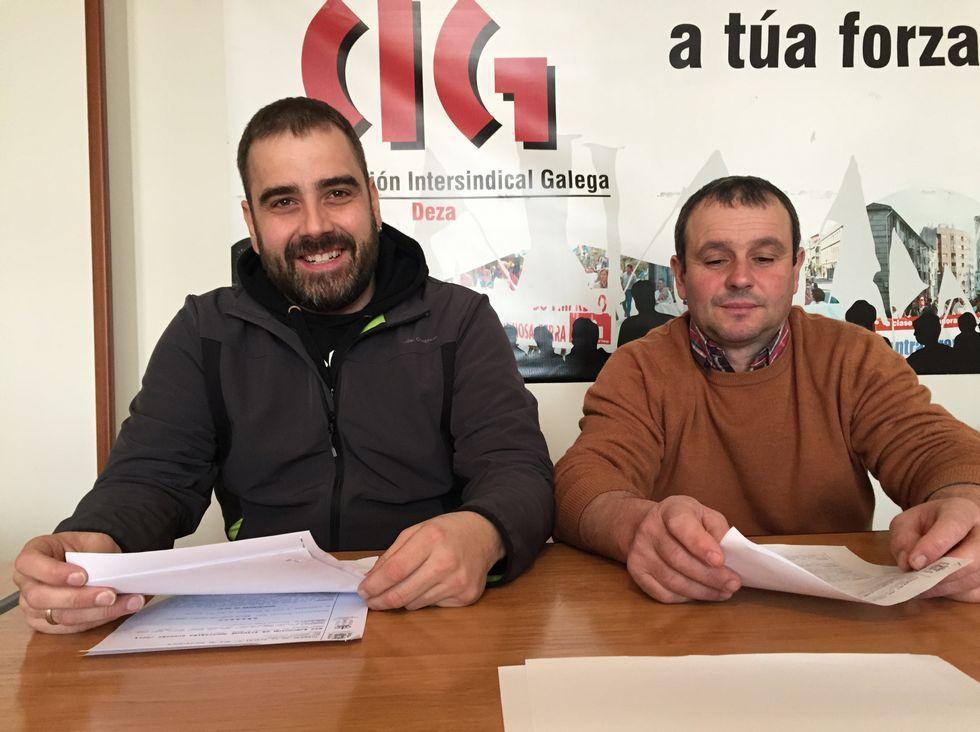 Antón Álvarez Merayo y Antonio González difundieron ayer el fallo.