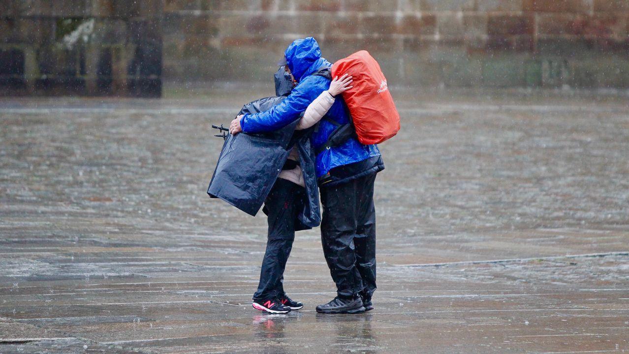.Temporal de lluvia y viento