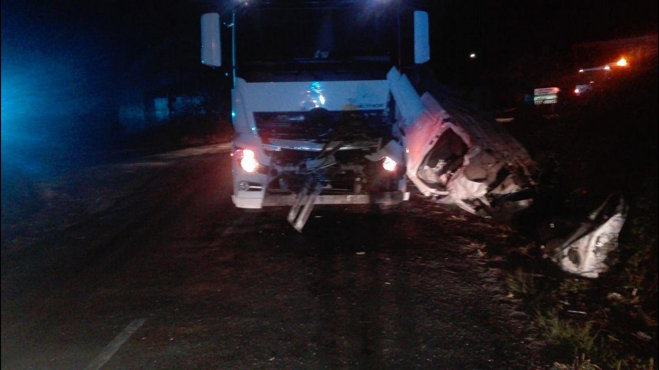 Accidente mortal y caos en el corredor de Sarria.Accidente en Láncara