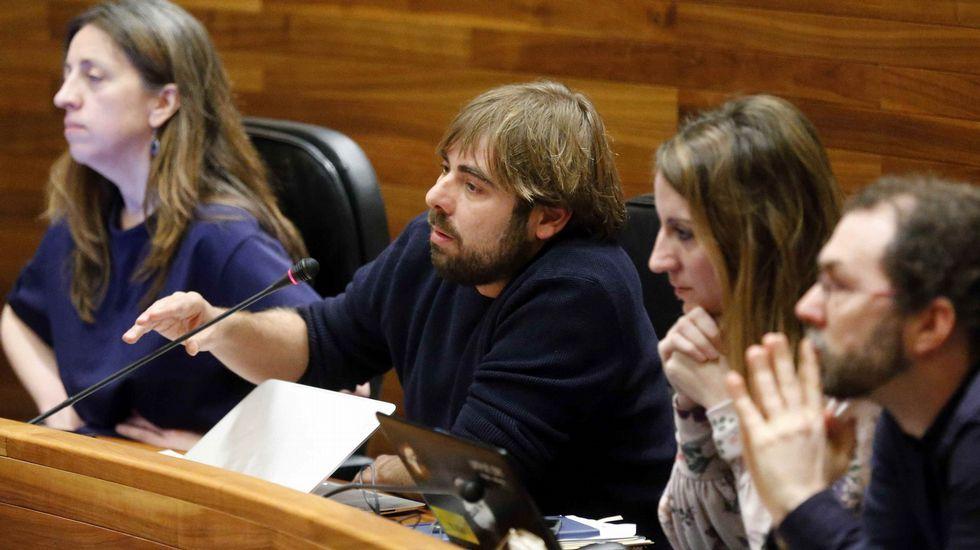 David Moreno, alcalde de Aller.Daniel Ripa y Patricia Díaz