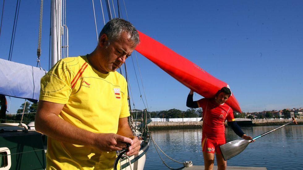 Suso Morlán, con David Cal en Pontevedra en el 2009