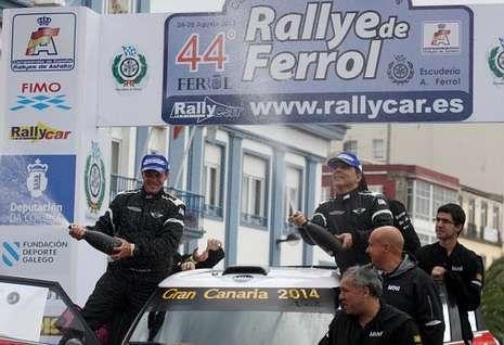 Los canarios Luis Monzón y José Carlos Déniz ganaron la carrera del año pasado.