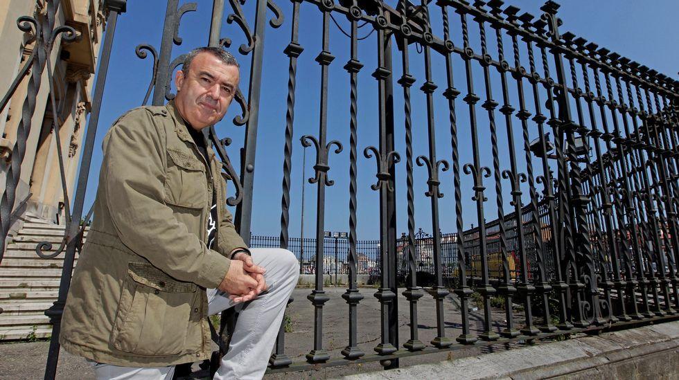 .El escritor madrileño Lorenzo Silva, en Gijón