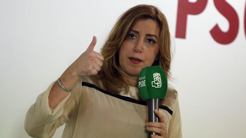 Susana Díaz pone fecha a su anuncio.Patxi López, en Oviedo
