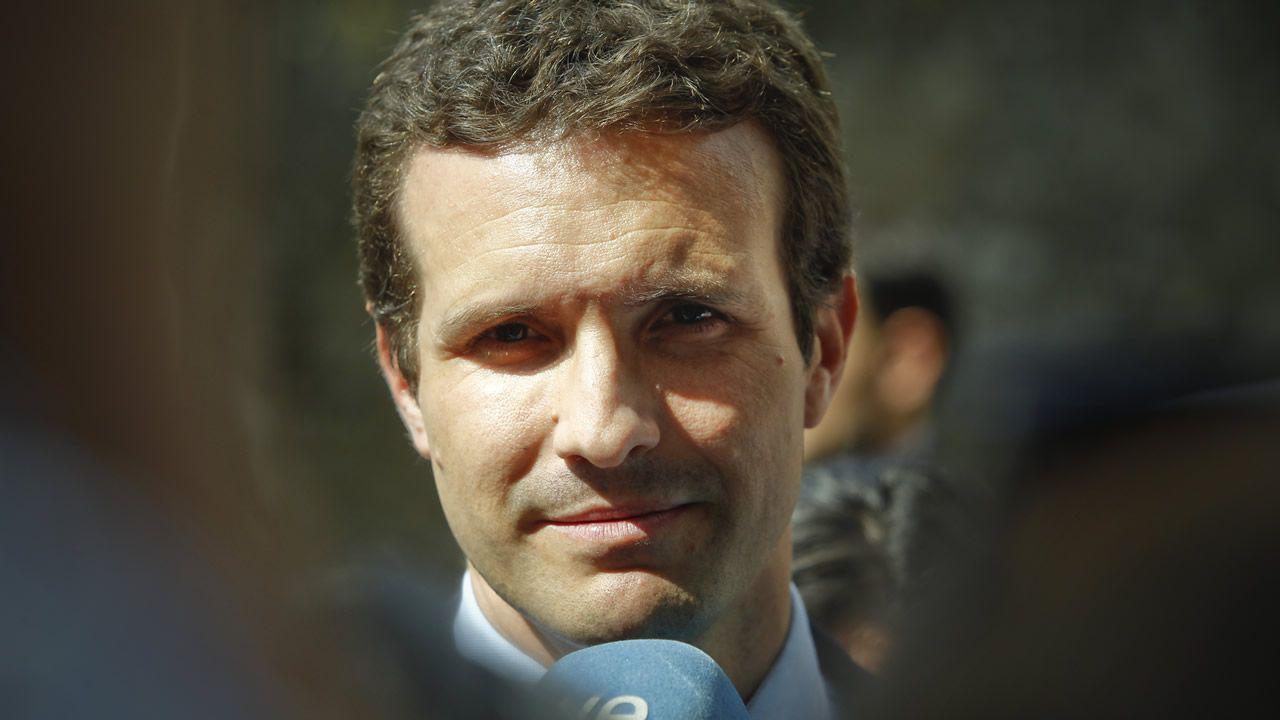 .Pablo Casado, en una reciente visita a Santiago