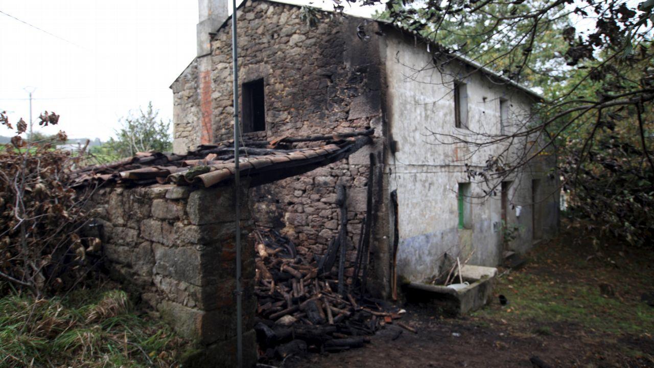Arde una casa en Muniferral, Aranga